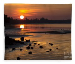 Sunrise Photograph Fleece Blanket