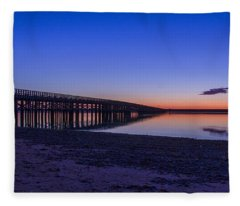Sunrise Pier Fleece Blanket