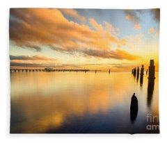 Sunrise Reflections Fleece Blanket