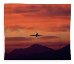 Sunrise Takeoff Fleece Blanket