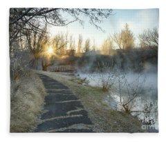 Sunrise Trail Fleece Blanket