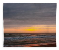 Sunrise Under The Clouds Fleece Blanket