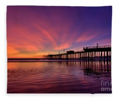 Sunset Afterglow Fleece Blanket