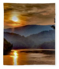 Sunset And Haze Fleece Blanket