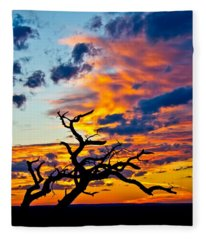 Sunset At Enchanted Rock Fleece Blanket