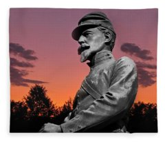 Sunset At Gettysburg  Fleece Blanket