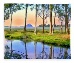 Sunset At Sweet Springs Fleece Blanket