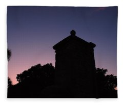 Sunset At The Gate Fleece Blanket