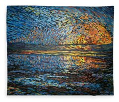 Sunset Before The Storm Fleece Blanket