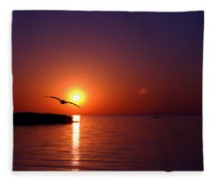 Sunset Blue Fleece Blanket