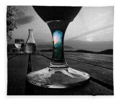 Sunset Cafe Fleece Blanket