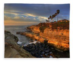 Sunset Cliffs Fleece Blanket