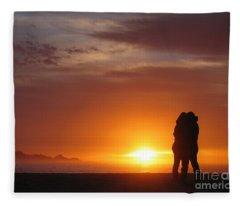 Sunset Cuddle Fleece Blanket