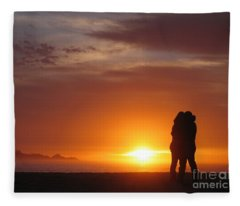 Sunset Cuddle Fleece Blanket
