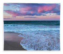Sunset East Square Fleece Blanket