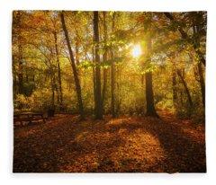 Sunset Forest Fleece Blanket