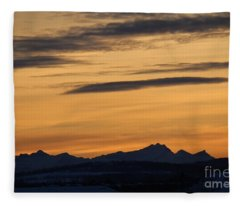 Sunset From 567 Fleece Blanket
