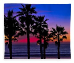 Sunset From The Ocean Park Inn Fleece Blanket
