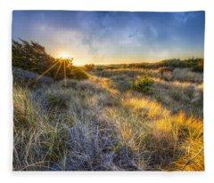 Sunset Glow On The Dunes Fleece Blanket