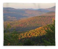 Sunset Glow Over The Autumn Landscape Fleece Blanket