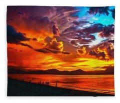 Sunset Happiness Fleece Blanket