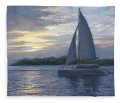 Sunset In Key West Fleece Blanket