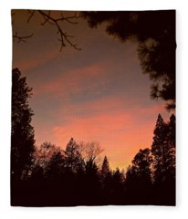 Sunset In Winter Fleece Blanket