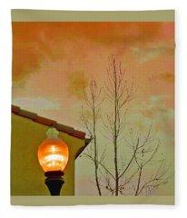 Sunset Lantern Fleece Blanket