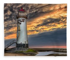 Sunset Lighthouse Fleece Blanket