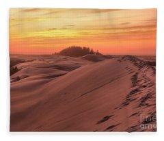 Sunset On The Ridge Fleece Blanket