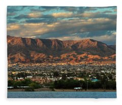Sunset Over Havasu Fleece Blanket