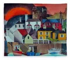 Sunset Over Howth Fleece Blanket