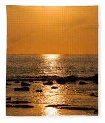 Sunset Over Kona Fleece Blanket