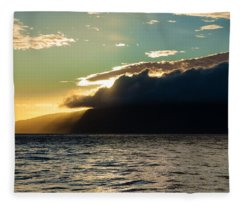 Sunset Over Lanai   Fleece Blanket