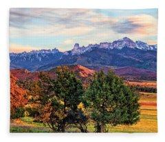 Sunset Over Owl Creek Pass Fleece Blanket