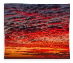 Sunset Over Saunder's Reef Fleece Blanket