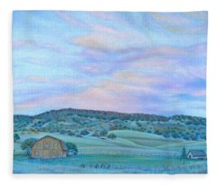 Sunset Over Table Mountain Fleece Blanket