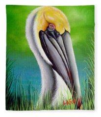 Sunset Pelican Fleece Blanket