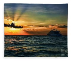 Sunset Regatta  Fleece Blanket