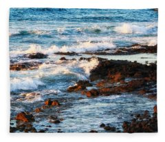 Sunset Shore Fleece Blanket