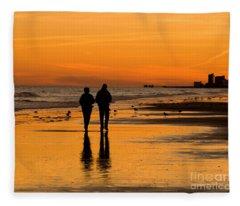 Sunset Stroll Fleece Blanket