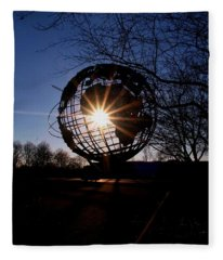 Sunset Through The Unisphere Fleece Blanket