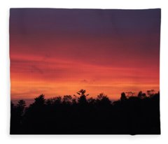 Sunset Tones Fleece Blanket