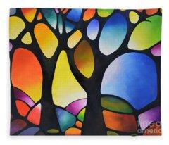 Sunset Trees Fleece Blanket