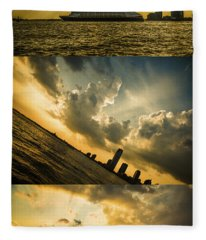 Sunset Trilogy Fleece Blanket