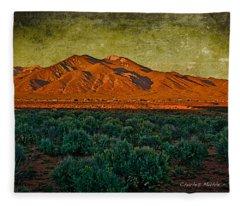 Sunset V Fleece Blanket
