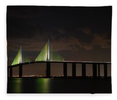 Sunshine Skyway Bridge Fleece Blanket