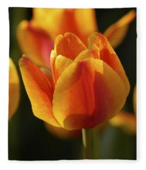 Sunshine Tulips Fleece Blanket