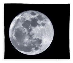 Super Moon Over Arizona  Fleece Blanket