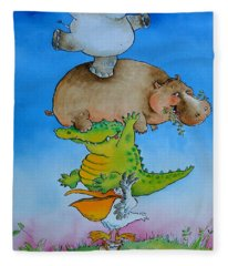 Super Mouse Pen & Ink And Wc On Paper Fleece Blanket
